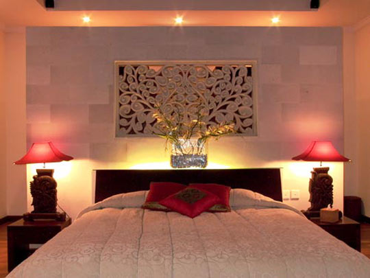 Orientalisk inredning i sovrummet for Beautiful bedroom design ideas